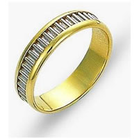 Item # 110971E - 18K Gold Comfort Fit, 5.0mm Wide Wedding Band