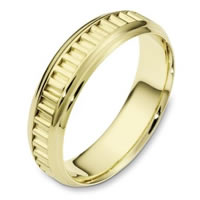 Item # 110981E - 18K Gold Comfort Fit, 6.0mm Wide Wedding Band