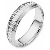 Item # 110981WE - 18K White Gold Comfort Fit, 6.0mm Wide Wedding Band
