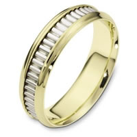 Item # 110991E - 18K Gold Comfort Fit, 6.0mm Wide Wedding Band