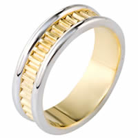 Item # 111001E - 18K Gold Comfort Fit, 7.0mm Wide Wedding Band
