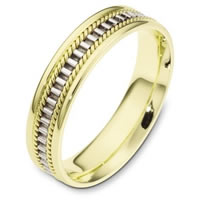 Item # 111011E - 18K Gold White Comfort Fit, 5.0mm Wide Wedding Band