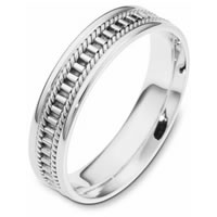 Item # 111011WE - 18K White Gold Comfort Fit, 5.0mm Wide Wedding Band