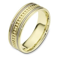 Item # 111021E - 18 kt Hand Made Wedding Band