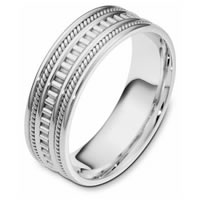 Item # 111021PP - Platinum hand made Wedding Band
