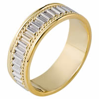 Item # 111041E - 18K Gold Comfort Fit, 7.0mm Wide Wedding Band