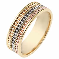 Item # 111051E - 18K Gold Comfort Fit, 6.5mm Wide Wedding Band