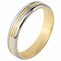 Item # 111061PE - 18K Gold and Platinum Hand Made Ring