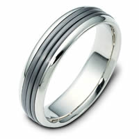 Item # 111081NTG - Titanium 14 K Gold Wedding Band