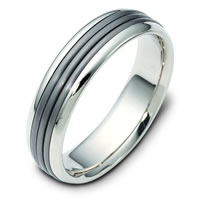 Item # 111081TG - Titanium-14 K Gold Comfort Fit Wedding Band