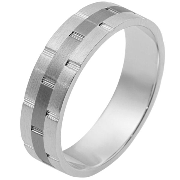 Titanium-Gold Comfort Fit Wedding Band