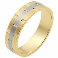 Item # 111131E - Gold Comfort Fit, 6.0mm Wide Wedding Band