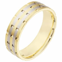18K Gold Comfort Fit, 6.5mm Wide Wedding Band