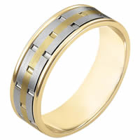 Item # 111161E - 18K Gold Comfort Fit, 6.5mm Wide Wedding Band