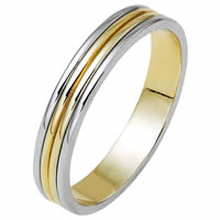 18kt and Platinum Wedding Band