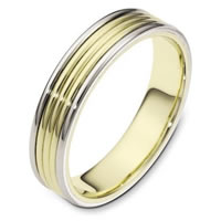 Item # 111181E - Wedding Band, 18K Two-Tone gold.