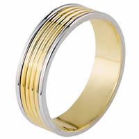 Item # 111191E - 18K Two-Tone Gold Wedding Band