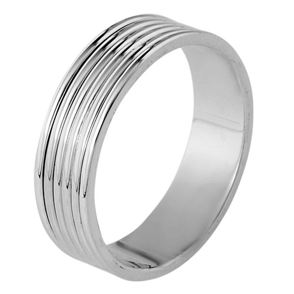 Item # 111191W - 14 ktwhite gold, 5.5 mm wide, comfort fit wedding band. The whole ring is polished. Different finishes may be selected or specified.