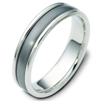 Item # 111221TG - Titanium-14 K Gold Comfort Fit Wedding Band