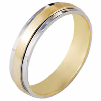 Item # 111251E - 18K Gold Comfort Fit, 5.0mm Wide Wedding Band