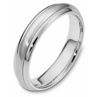 Item # 111281WE - 18K White Gold Comfort Fit, 5.0mm Wide Wedding Band