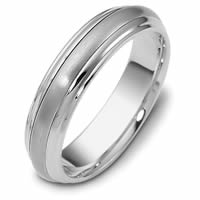 Palladium Comfort Fit, 5.5mm Wide Wedding Band