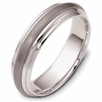Titanium-Gold Comfort Fit, 5.5mm Wide Band