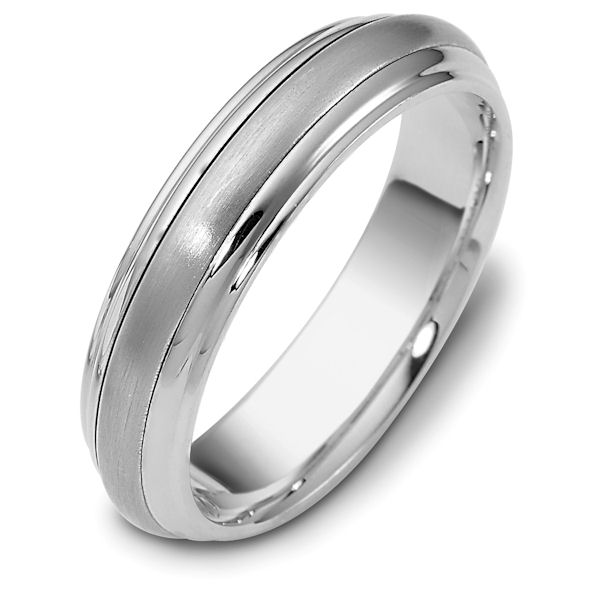 Item # 111291PD - Palladium classic, comfort fit, 5.5mm wide wedding band. The ring has a matte finish in the center and the rest polished. Different finishes may be selected or specified.