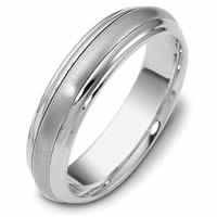 Item # 111291WE - 18K White Gold Comfort Fit, 5.5mm Wide Wedding Band