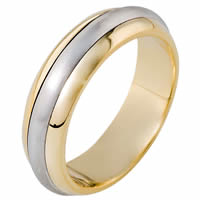 Item # 111301E - 18K Gold Comfort Fit, 6.0mm Wide Wedding Band