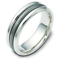 Item # 111311TG - Titanium-14 K Gold Comfort Fit, 7.0mm Wide Wedding Band