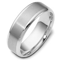 Palladium Comfort Fit, 6.0mm Wide Wedding Ring