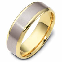 Item # 111361PE - Platinum and 18K Gold Wedding Band