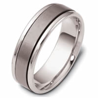 Titanium-14kt White Gold Comfort Fit Wedding Band