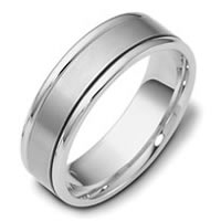 Item # 111381W - 14 kt Hand Made Comfort Fit Wedding Band