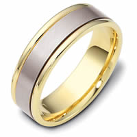 Item # 111381E - 18 kt Hand Made Comfort Fit Wedding Band