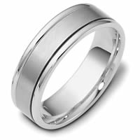 Item # 111381PD - Palladium Hand Made Comfort Fit Wedding Band