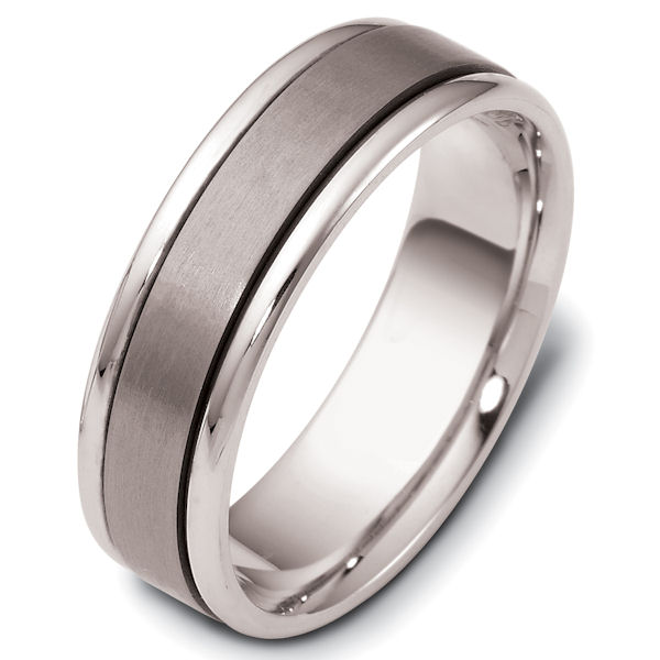 e00da0f9748b1 111381TG Titanium-14kt White Gold Comfort Fit Wedding Band