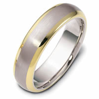 Item # 111411E - 14K Gold Comfort Fit, 6.0mm Wide Wedding Band