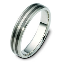 Item # 111421TG - Titanium-14 K Gold Comfort Fit Wedding Band