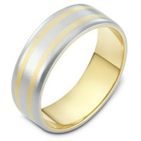 Item # 111441E - 18K Gold Comfort Fit, 6.5mm Wide Wedding Band