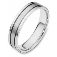 White Gold Comfort Fit  Wedding Ring