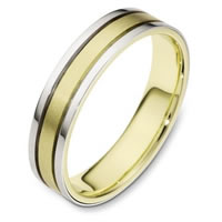 Item # 111451E - 18K Gold Comfort Fit, 4.5mm Wide Wedding Band