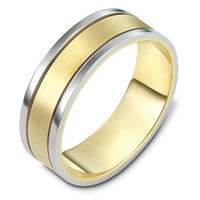 Item # 111471E - 18K Gold Comfort Fit, 7.0mm Wide Wedding Band