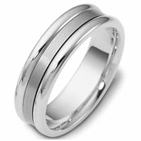 Platinum Comfort Fit, 6.5mm Wide Wedding Band