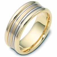 Item # 111501E - 18K Gold Comfort Fit, 8.0mm Wide Wedding Band