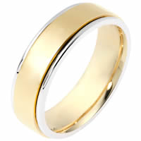 Item # 111511E - 18K Gold Comfort Fit, 6.0mm Wide Wedding Band