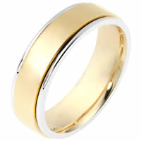 Item # 111511 - 14K Gold Comfort Fit, 6.0mm Wide Wedding Band