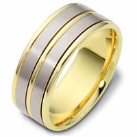 18K Gold Comfort Fit, 8.5mm Wide Wedding Band