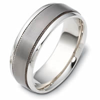 Item # 111621TG - 14 K Gold-Titanium Comfort Fit, 7.5mm Wide Wedding Band